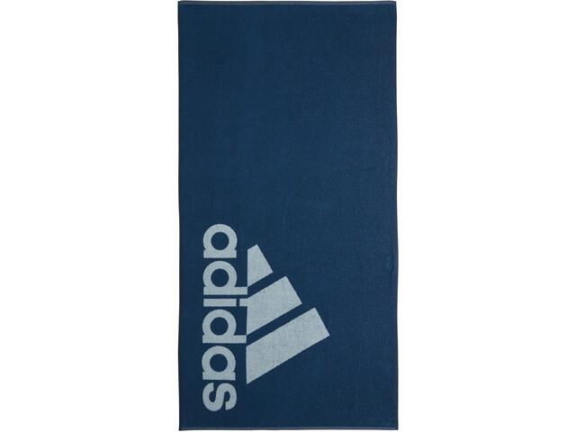 adidas Towel L Men, legend marine/ash grey